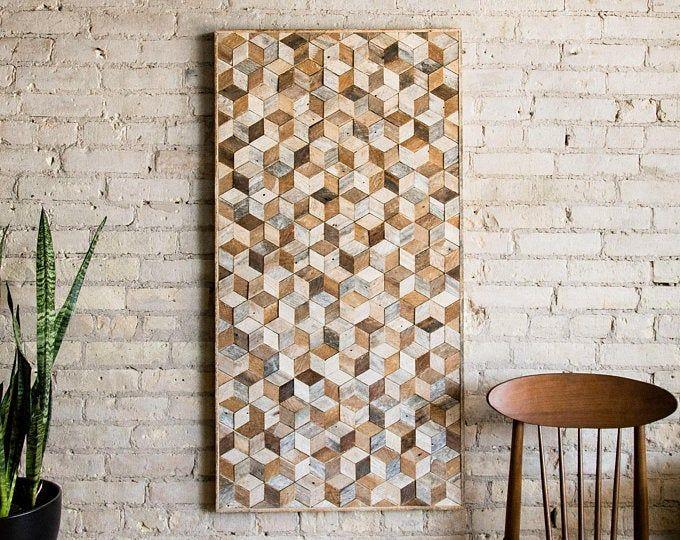 Reclaimed Wood Wall Art Wood Wall Decor Farmhouse Decor Rustic Wall Art Wood Wall Hanging In 2020