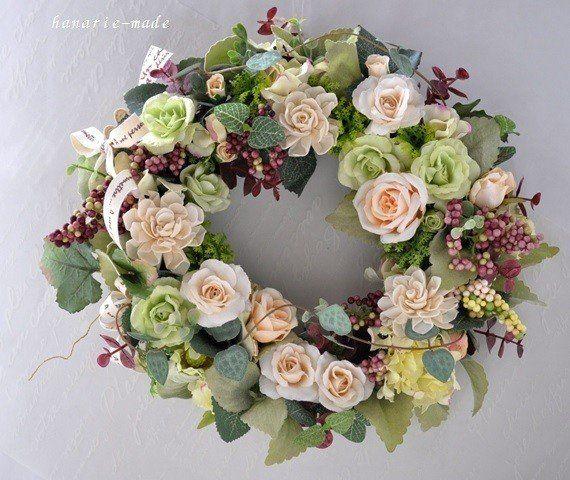バラのささやき :アメジスト色の実とハートカズラの蔓をそえて
