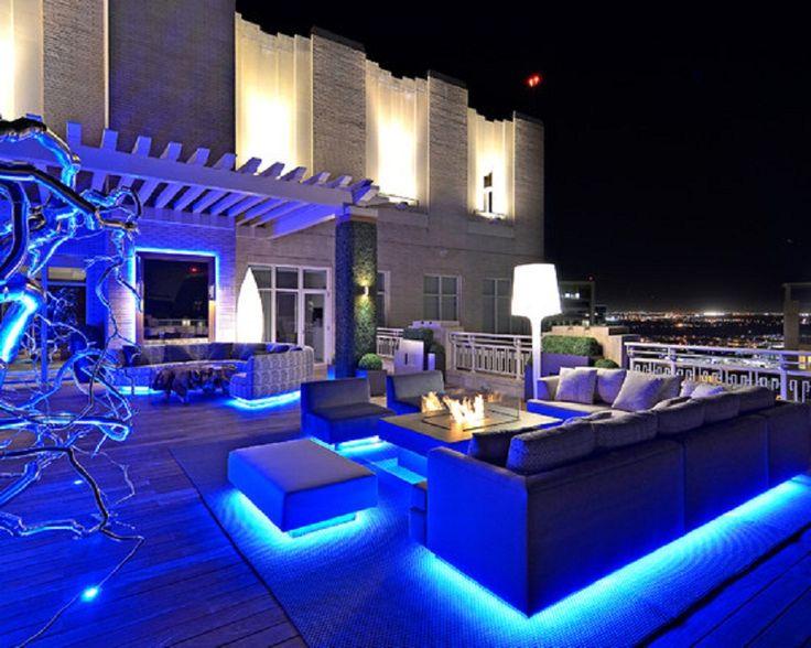 Blue LED Strip Lighting For Outdoor Living Room Decor | Bloomberg |  Pinterest | Strip Lighting, Outdoor Living Rooms And Room Decor