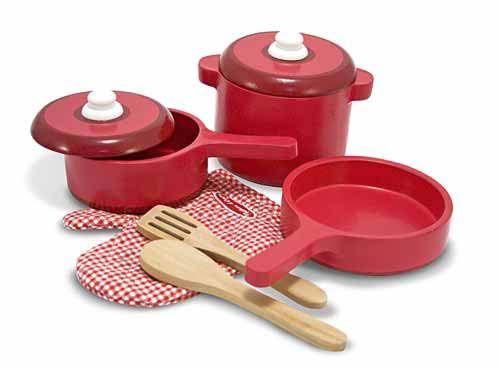 Pots and pans: Kitchens, Wooden Kitchen, Toys, Melissa, Kitchen Accessories, Kid