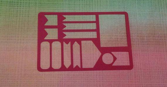 Bannière #6 pochoirs pour planner de bujo bullet journal