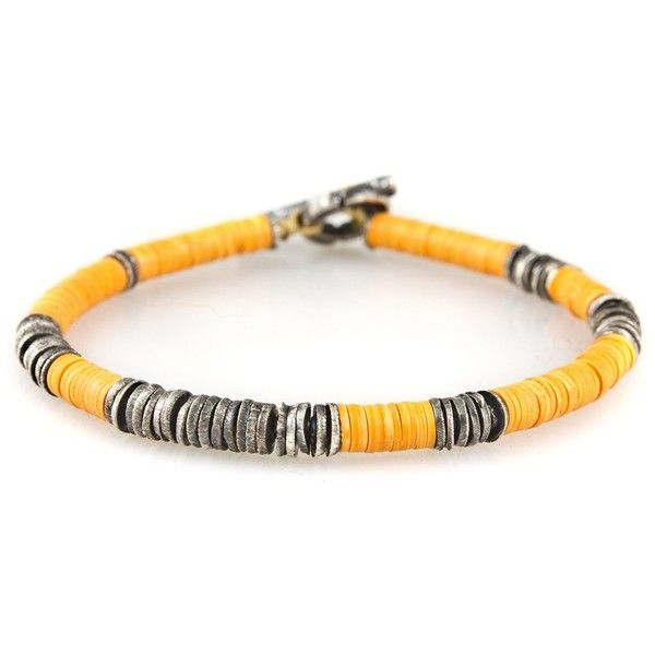 African Vinyl Silver Disc Bracelet ❤ liked on Polyvore featuring jewelry, bracelets, carved jewelry, african jewelry, silver bangles, african bangles and disc jewelry