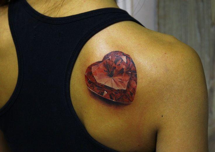 red heart diamand