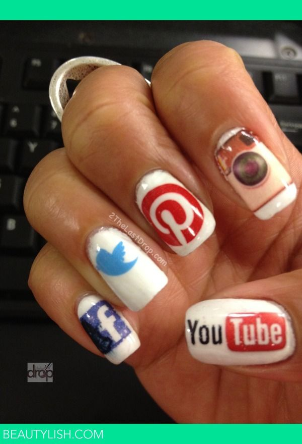 Social Media Nails - what I call dedication to the social media age. Dedication and borderline obsessed haha!