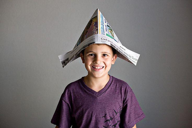 MOPPETS craft?: Kids Inspiration, Movies Technology, For Kids, Kids Stuff, Newspaper Hat