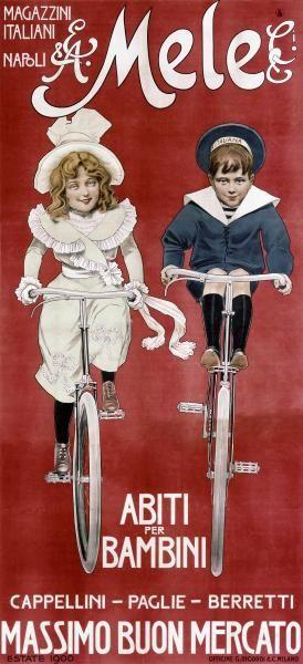 Abiti per Bambini, Vintage Italian Advertising Poster, Mele & C