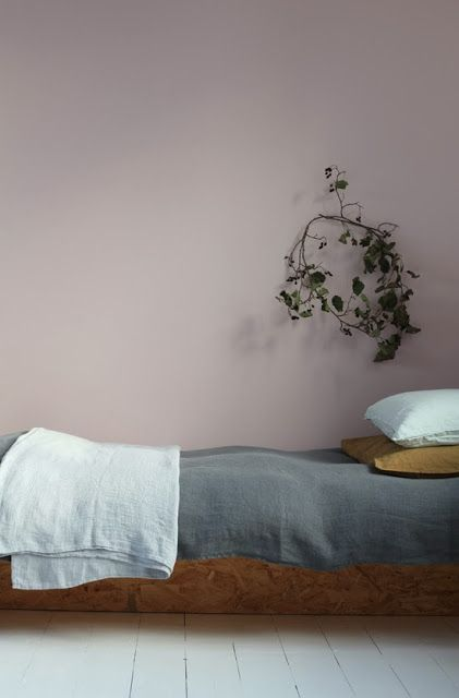 Beautiful mild colour for a bedroom wall