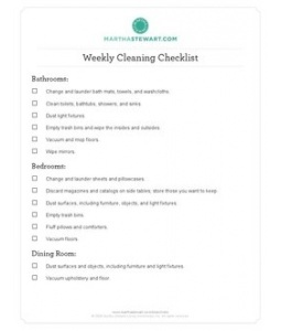CLEANING WEEKLY CLEANINGCleaning Weeks, Weekly Cleaning Checklist,  Website, Cleaning Lists, Weeks Checklist, Weeks Cleaning, Check Lists, Cleaning Schedules, Martha Stewart