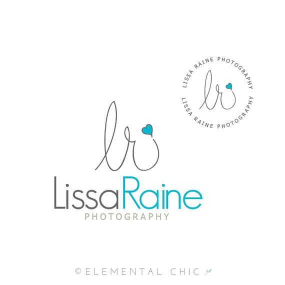 Wonderful Handwritten Initials Logo And Submark, Photographer Signature Premade Logo  Design