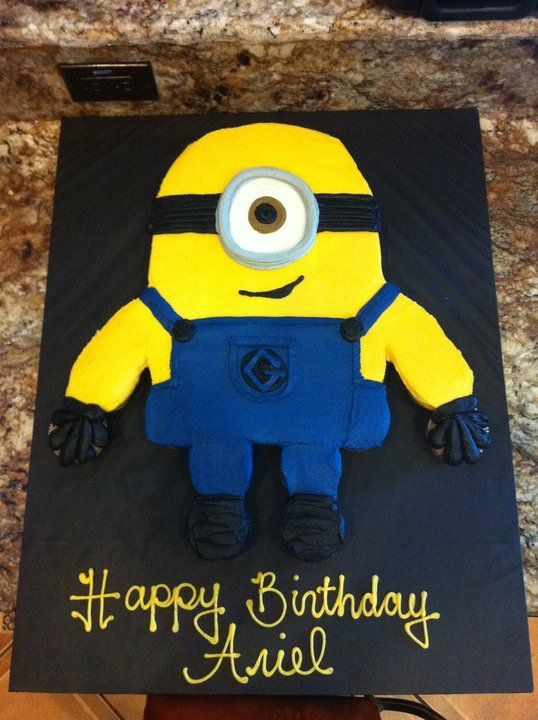 Despicable Me Minion Cupcake Pull-Apart!! Cupcake Cake