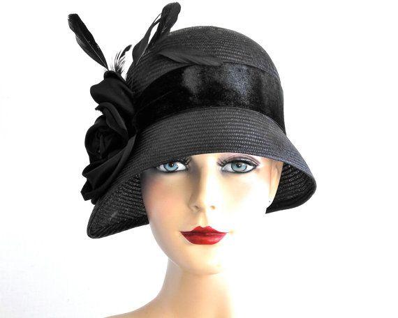 Black Straw Cloche Hat Women's Hats Spring Fashion Fall ...