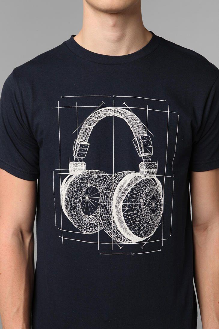Arka Headphones Blueprint Tee #UrbanOutfitters