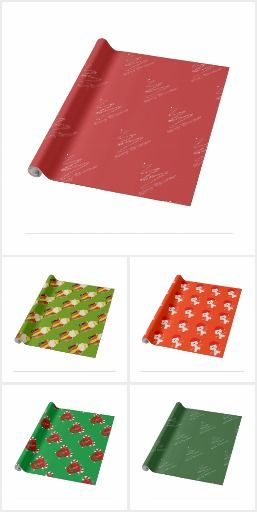 Christmas Wrapping Paper #zazzle #wrapping #paper #holiday #gift
