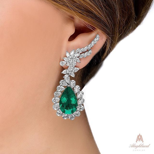 Alaghband. Royal Emerald Earrings.