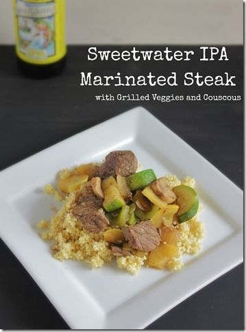Sweetwater Brewery IPA Marinated Steak Kabobs. Add SRSB Pork Rinds for an added crunch! #SouthernRecipeSmallBatch #PorkRinds #Beer