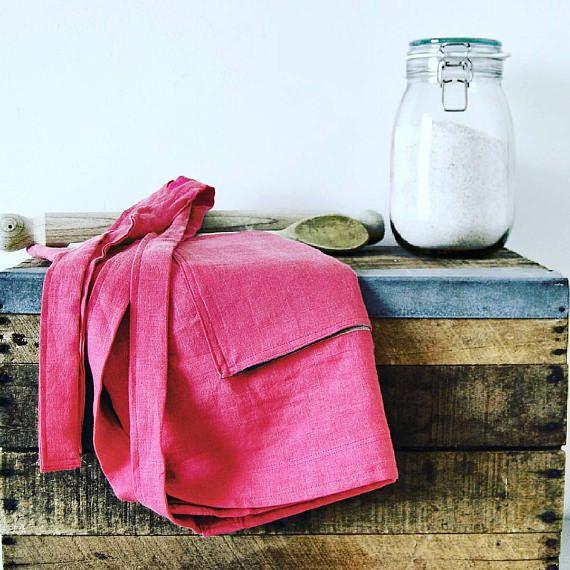 Bistro style half apron crafters apron linen apron cafe