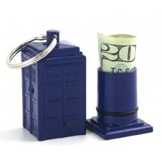 Doctor Who: Tardis Emergency Fund Keychain. Also this is just an awesome concept!