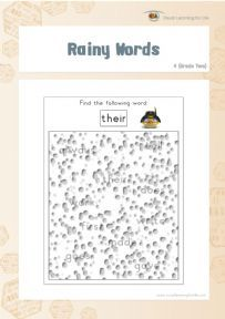 Rainy Words 4 - Individual File Download