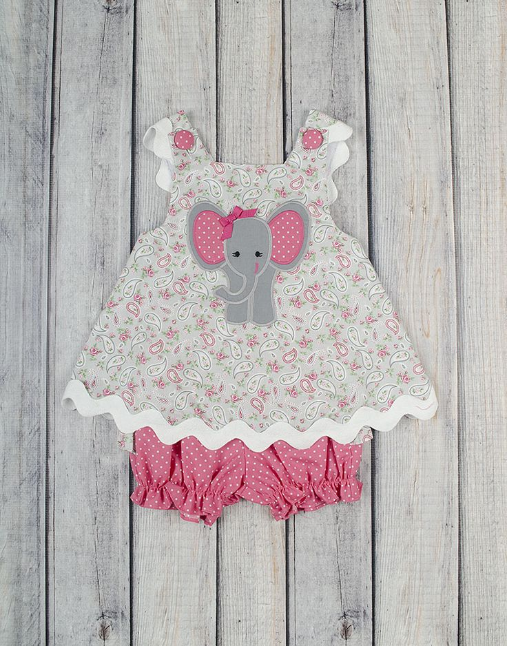 Stellybelly Elephant Bloomer Set
