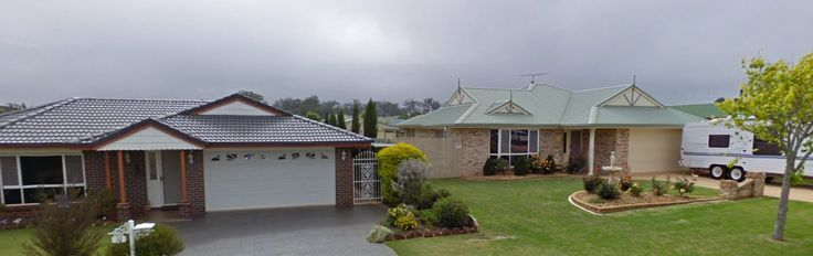 Two houses in a typical 112 Full House street in Toowoomba, Queensland
