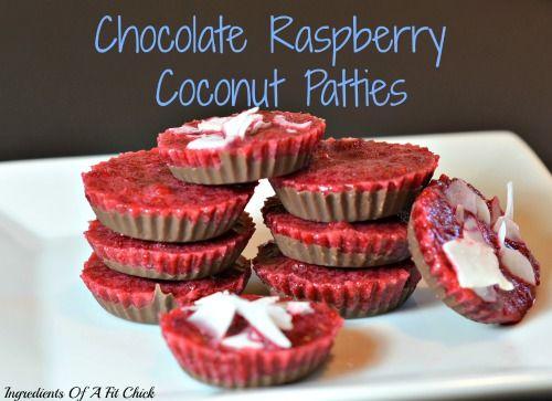Chocolate Raspberry Coconut Patties (recipe redux)