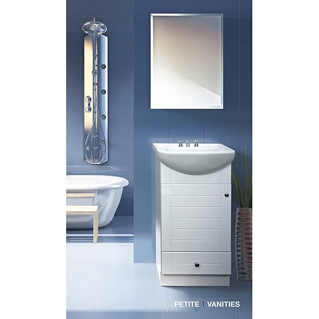 Bathroom Vanity 34 Inches Wide Fine Fixtures Petite 18 Inch Wood White Bathroom Vanity