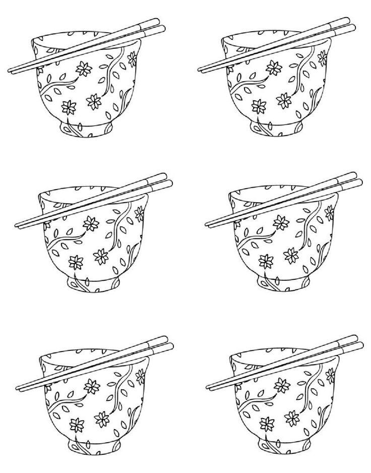 thema china, rijstkommetjes / miska-hulky-cina