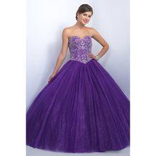 Gorgeous paars jurken sweet 16 baljurk sweetheart kralen prachtige tulle prinses baljurken voor tieners(China (Mainland))