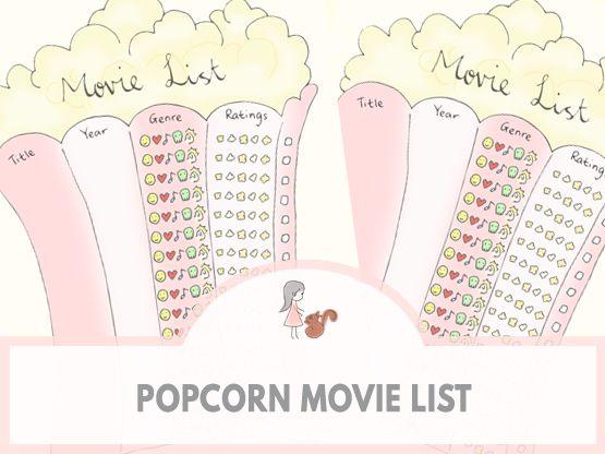 Popcorn Movie List | www.sweetestchelle.com