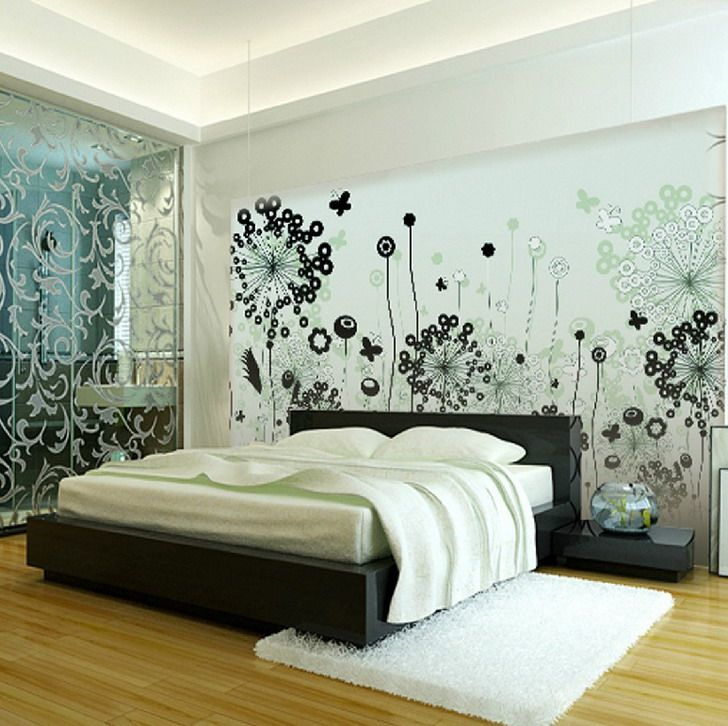 Black White Painting Wall Murals For Creativity Part 21