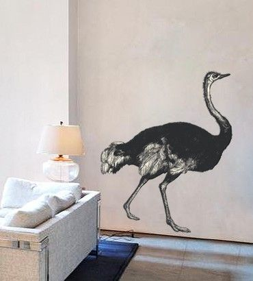 Streetwallz - Ostrich Wall Decal, $120.00 (http://www.streetwallz.com/ostrich-wall-decal/)