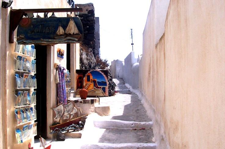 Shops in Santorini (Greece)