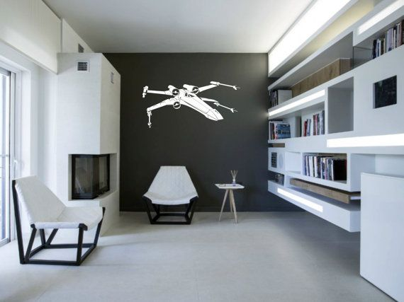 Sci-fi Star Wars X-Wing fighter vinyl wall decal