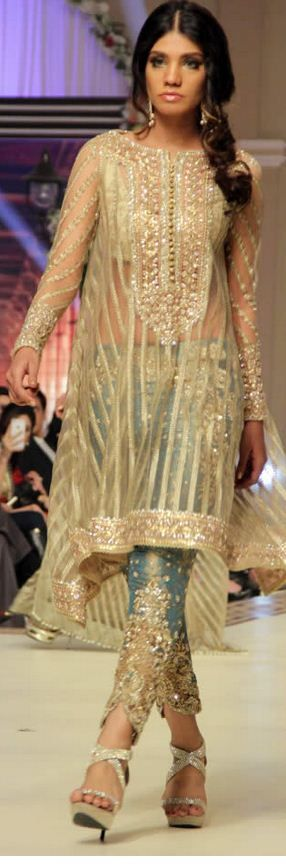 #FarazManan Bridal Collection at Telenor Bridal Couture Week 2014 sleeves and bottoms