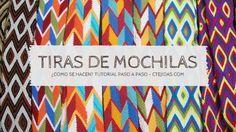 Tutorial #128: Tiras, Fajones o Gasas de Mochilas Wayúu | CTejidas [Crochet y Dos Agujas]