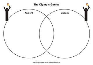 Olympics venn diagram worksheet and other worksheets