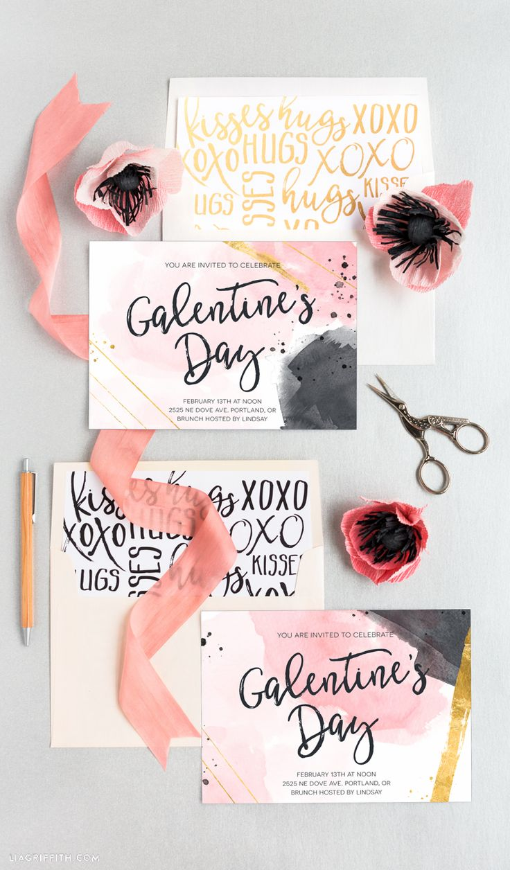 Galentine's Day Invitation | Invitations, Parties and ...