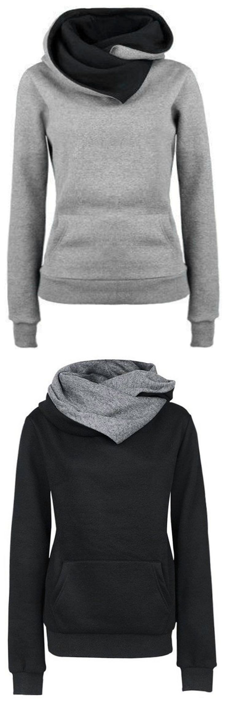 Seeking warmth is the instinct in winter! Free shipping&easy return! This high neck sweatshirt detailed with fleece lining&kangaroo pocket will offer you this cozy&chic look! Take it at Cupshe.com