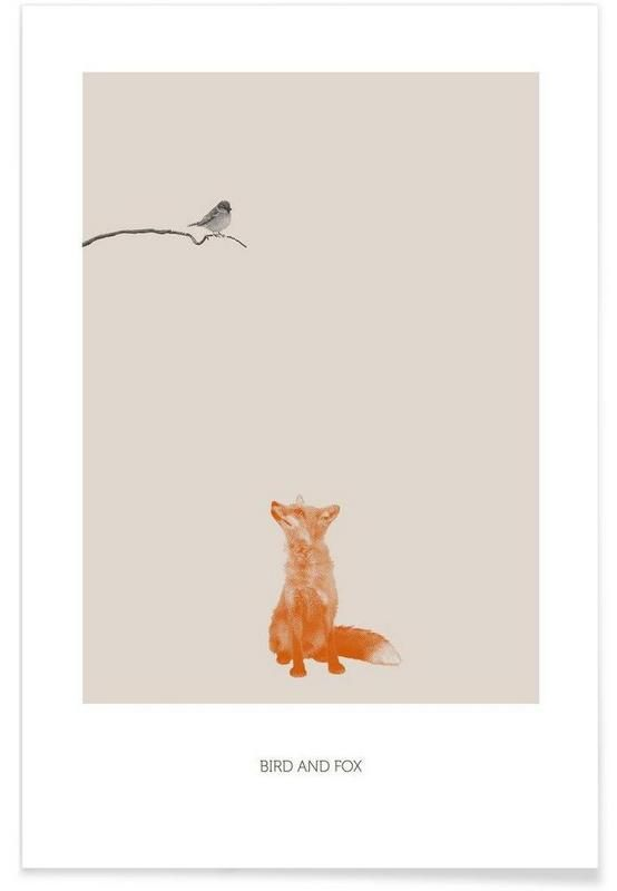Bird And Fox en Affiche premium par Sarah Bühler | JUNIQE