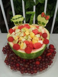 Fruit Carving, Vegetable Carving, Garnishes and Edible Arrangements: Monster High Fruit Carving