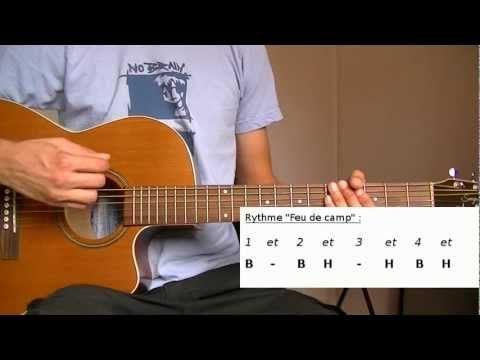 Cours de Guitare débutant : Rythme Feu de camp - YouTube