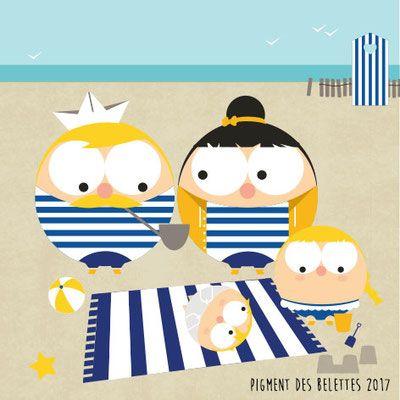 Au bord de mer en famille ©Pigment des Belettes