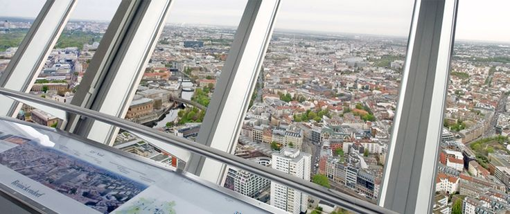 Berlin TV Tower - 360° Berlin - 23 euro per person for admission and a dinner reservation, plates for dinner are about 25 euro each.