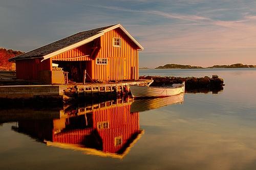 Winter evening at Eigebrekk, Mandal, Norway | HDR Image