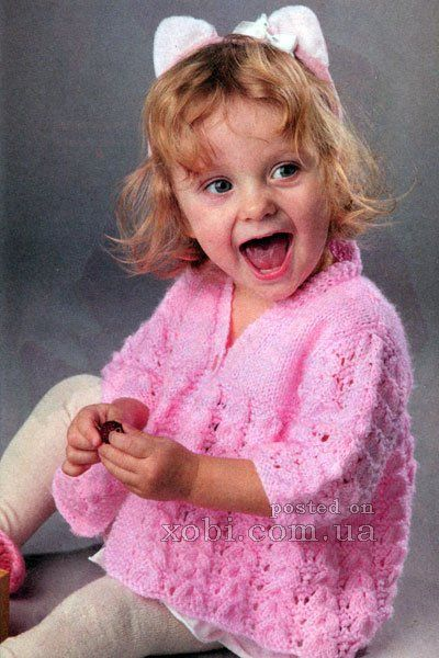 розовый кардиган для девочки