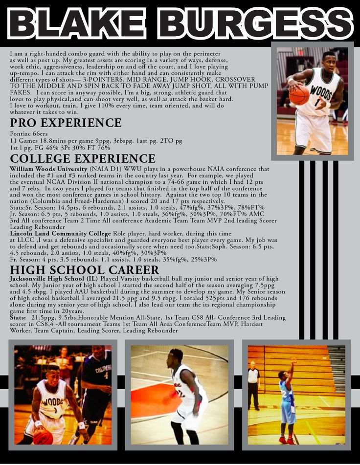 110 best Sports Resumes Recruiting Flyers images on Pinterest - recruiting resume