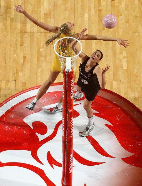 Anna Scarlett and Caitlin Bassett Photos: Australia v New Zealand - Game 3