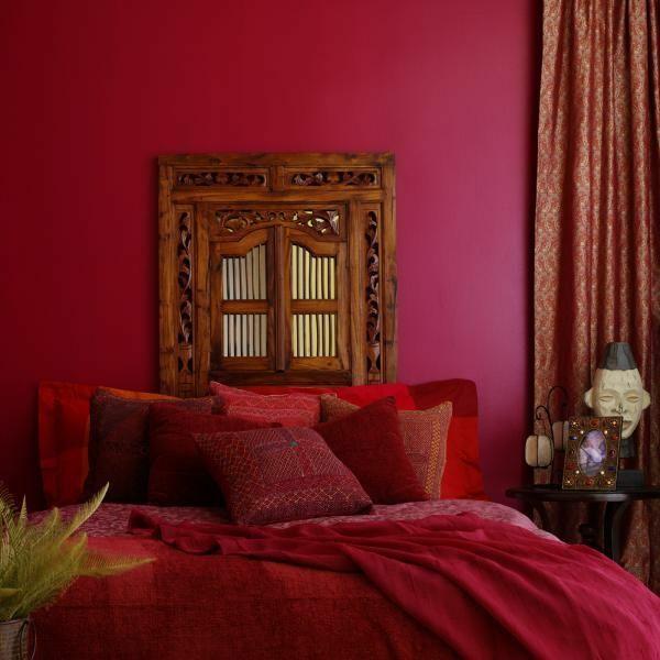 feng shui schlafzimmer orientalisches design rot