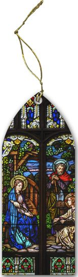 Holy Family (Older) Stained Glass Wood Ornament - Catholic to the Max - Online Catholic Store