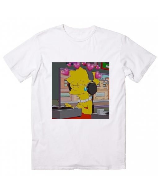 0620a0ad58 Lisa Simpson T-Shirt. Girls Thoughts and Feelings, Women's Funny Quotes  Shirt, Famous Quotes T Shirts, handmade by order with Screen printing